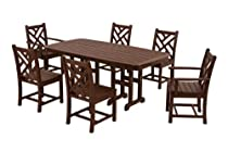 Hot Sale POLYWOOD PWS121-1-MA Chippendale 7-Piece Dining Set, Mahogany