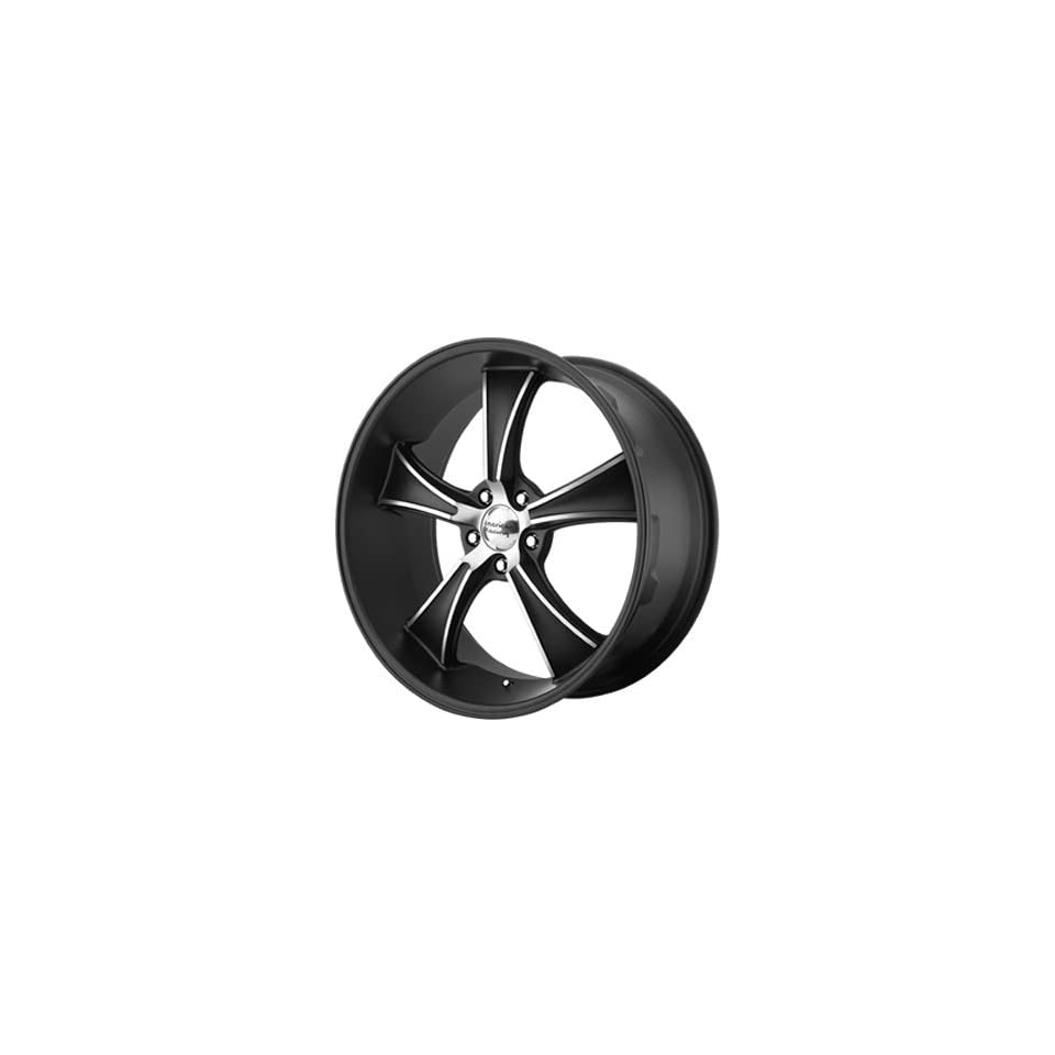 American Racing Vintage Boulevard 18 Black Wheel / Rim 5x4.5 with a 0mm Offset and a 72.6 Hub Bore. Partnumber VN80589512700 Automotive