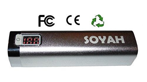 Soyah 2600Mah Powerstick Has A Compact Premium Aluminum Case, Digital Led Charge Level Indicator, And Is For Apple Iphone 5S, Iphone 6, Samsung Galaxy, And Many Other Devices. (Silver) front-159336