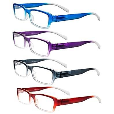 Amazon.com: Eyeglasses, Reading Glasses, Set of 4, Neon