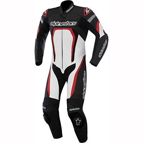 Alpinestars Motegi Men's 1-Piece Street Motorcycle Race Suits - Black/White/Red / 50