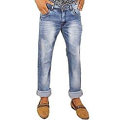 Hasasi Denim Men's Regular Fit Jeans - IBU30051-Jeans-Blue-34