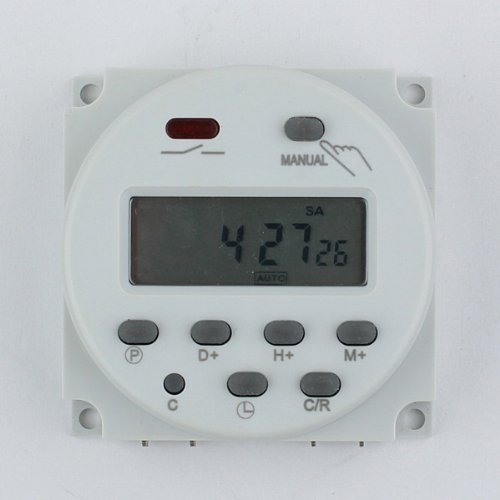 Neewer® Lcd Digital Power Programmable Timer Ac 12V 16A Time Relay Switch front-502157