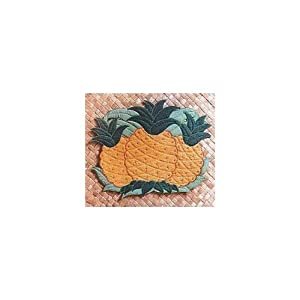 Hawaiian Placemat Fabric Cut Out Pineapple
