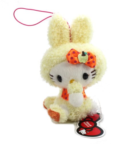"Eikoh Hello Kitty Sherbet Bunny Plush Strap - 5"" Yellow"