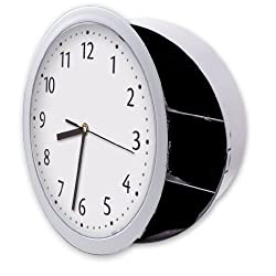 Hidden Wall Clock Safe, Looks Like Regular Wall Clock but Has a Hidden Safe Behind Clock Face. Keeps Valuables, Documents, Keys, Other Valuables Safe and Secure. Brand: Perfect Life Ideas -Tm®