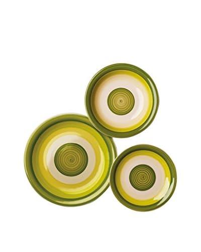 Geniet van Startpagina Servies 18 stuks . Set Circle groen