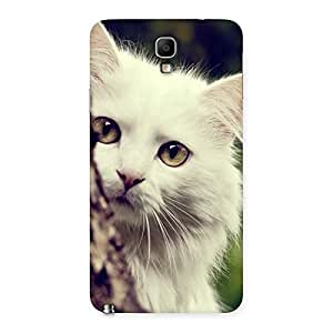 Cute Hiding Cat Multicolor Back Case Cover for Galaxy Note 3 Neo