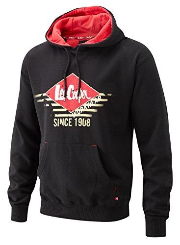 Lee Cooper, LCSWT114 HOODY SWEATSHIRT BLACK XL, x Uomini Graphic Felpa con cappuccio, nero