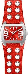 Alpha Saphir 222D - Reloj de mujer de cuarzo, correa de piel color rojo de Alpha Saphir