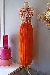 Isha Enterprise Women's Georgette Orange Kurti