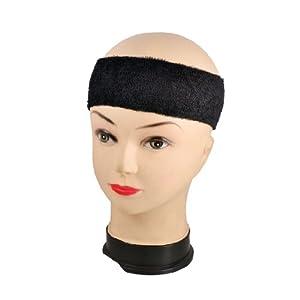 Buy Adult Terrycloth Elastic Tennis Runner Head Band Sweatband Headband Black by Como
