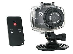 HP AC-100 Caméra Full HD 1080p 5 Mpix avec Télécommande + Ecran tactile + Caisson étanche Noir 005623