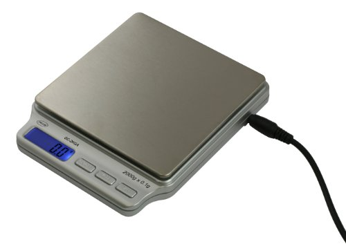 American Weigh Scales SC-2KG-A Digital Personal Nutrition Scale with AC Adapter