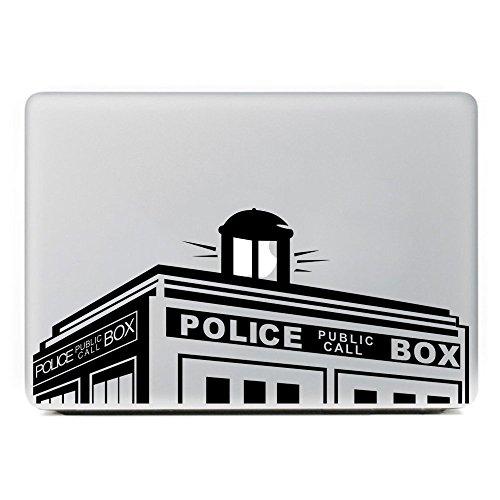 """Vati lascia rimovibile polizia casella medico che vinile Decal adesivo pelle Art nero per Mac Air di Apple Macbook Pro 13"""" pollici / Unibody 13"""" pollici portatile"""