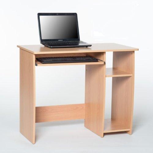 Computertisch mit Tastaturauszug Kinderschreibtisch Buche Dekor günstig bestellen