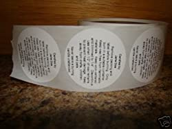"""1000 - 2"""" Round Candle Warning Container Labels Stickers"""
