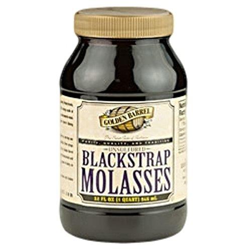 Golden Barrel Blackstrap Molasses, Unsulphured-32 oz