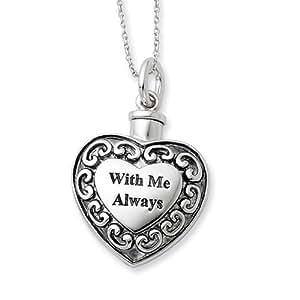 with me always heart ash holder necklace in. Black Bedroom Furniture Sets. Home Design Ideas
