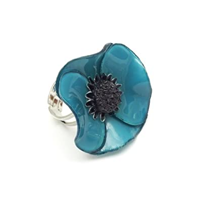 Small Anemone Ring by Cilea (Teal)