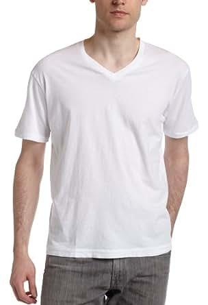 Splendid Men's Always Short Sleeve V-Neck T-Shirt,White,Small