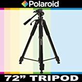 Polaroid 183 cm Photo / Video ProPod Tripod Includes Deluxe Tripod Carrying Case + Additional Quick Release Plate For The Samsung SMX-F43, F44, F40, F54, F50, F53, H204, H200, H203, H205, H300, H303, H304, H305, Q10, P300, P100, K45, S10, S16, S16 Camcor