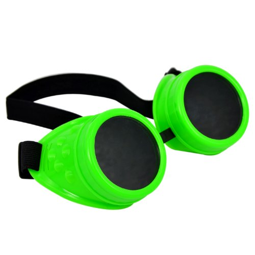 Cyber-Goggles-Steampunk-Welding-Goth-Cosplay-Vintage-Goggles-Rustic-Green