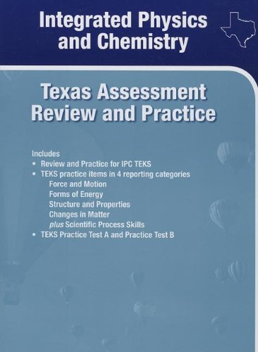 Holt McDougal Supplemental Science Online Texas: Assessment Review and Practice Integrated Physics and Chemistry