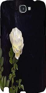 Snoogg White Rose Flower Designer Protective Back Case Cover For Samsung Gala...