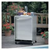 24&#8243; Built-in Beer Refrigerator with 1/2 or 1/4 Keg Accommodation Tapping Equipment Drip Tray and Floor Shield Right Hinge Door: Stainless