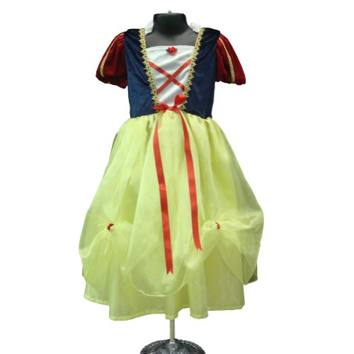 Girls Deluxe Snow White Quality Dress Up Costume