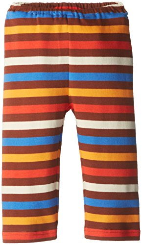 Zutano Baby-Boys Newborn 5 Color Stripe Pant, Chocolate/Periwinkle, 18 Months