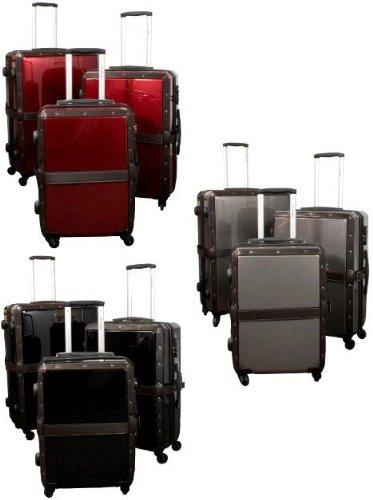 Kofferset 3 tlg. Trolleyset ABS Hartschale NOSTALGIE