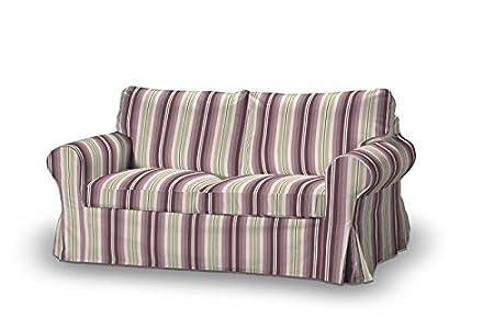 FRANC-TEXTIL 611-141-14 Ektorp 2-Plazas Sofá funda no plegable, sofá funda para 2-plazas Ektorp no plegable, Mirella, rosa/beige