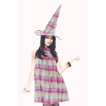 Adult Psychedelic Witch Costume