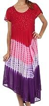 Sakkas Women's Multi Tie Dye Cap Slee…