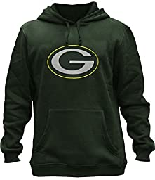 Clor Mens Green Bay Packers Super Athletic Pullover Hoodie - Green#2 M