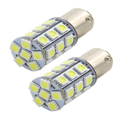 Generic High Power 27-Smd-5050 1157 2057 2357 7528 Switchback Led Bulbs For Front Turn Signal Lights Lamps Color White
