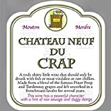 Novelty Wine Bottle Labels - Chateau Neuf Du Crap