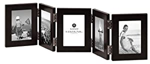 Burnes of Boston C53923 5 Hinged Picture Frame, 2-1/2-Inch by 3-1/2-Inch, Onyx