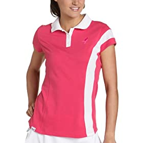 New Balance Women's Lace Up Short Sleeve Polo