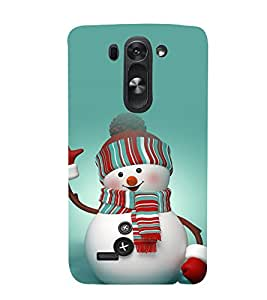 printtech Snowman Christmas Back Case Cover for LG g3s Dual