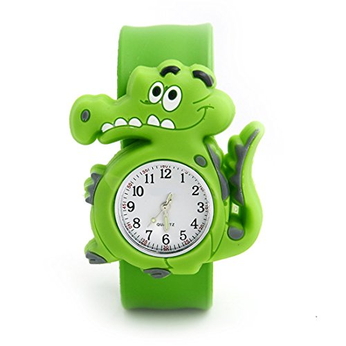JILITE Kids' 3D Crocodile Animal Green Rubber Clap On Hand