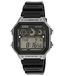 Casio Youth Digital Digital Black Dial Mens Watch - AE-1300WH-8AVDF (D109)