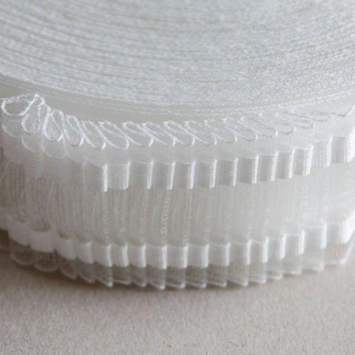 Roomserve - Bande Plissage Rideau Voilage Transparent 5 cm x 20 Mètres
