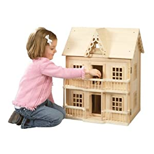 Learning Curve Victorian Wooden Dollhouse