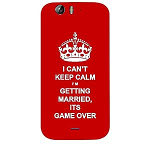 Skin4gadgets I CAN'T KEEP CALM I'm GETTING MARRIED , ITS GAME OVER - Colour - Red Phone Skin for MICROMAX CANVAS TURBO (A250)