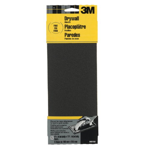3M Drywall Sanding Sheets, Fine-Grit, 4.1875-Inch By 11-Inch, 2-Sheet front-975714