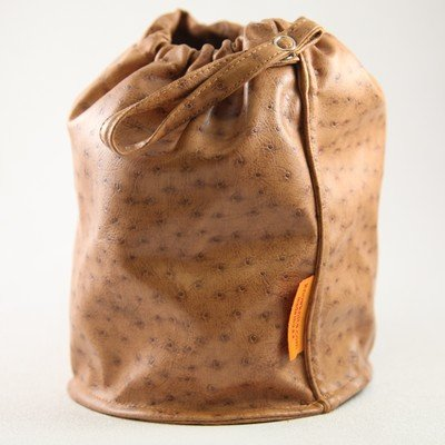 Faux Ostrich Small GoKnit Pouch Project Bag w/ Loop & Drawstring from KnowKnits