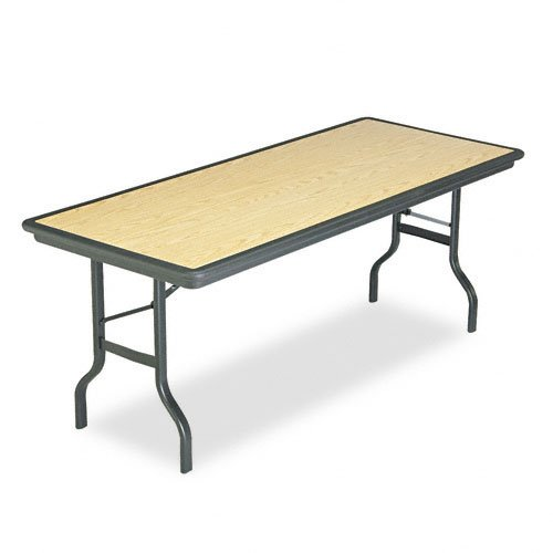 Iceberg 65129 72 by 30 by 29-Inch Indestruc-Tables Too Rectangular Folding Table, Light Oak